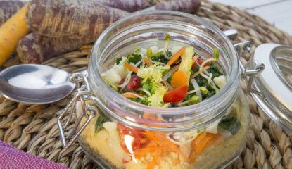 presentacion ensalada de couscous