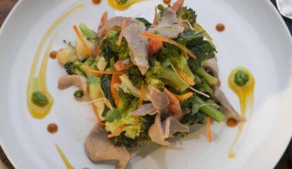 Salteado de hortalizas con secreto