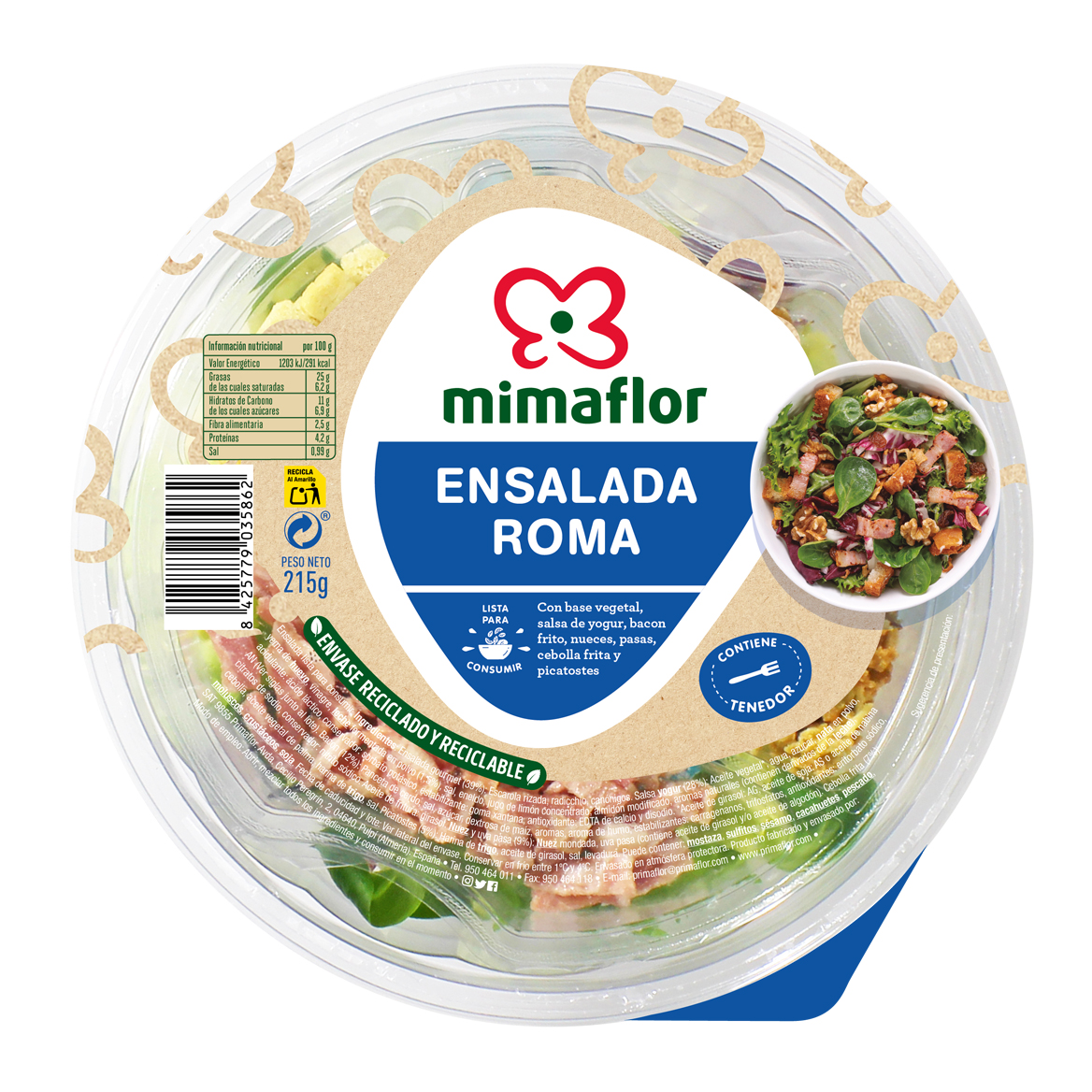 bowl ensalada roma