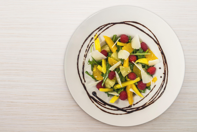 ensalada verde con fruta