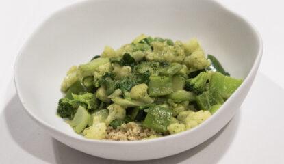 Curry verde con verduras